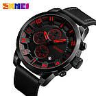 Мужские часы Skmei (Скмей)1309 Braun / Black / Red, фото 7