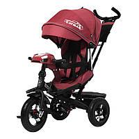 Велосипед трехколесный TILLY CAYMAN с пультом и усиленной рамой T-381/2 Красный лен /1/