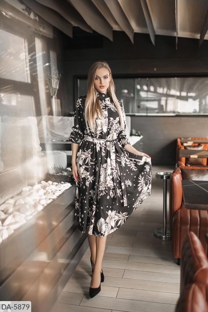 Платье миди цветы в расцветках 165076
