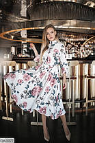 Платье миди цветы в расцветках 165076, фото 3