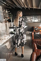 Платье миди цветы в расцветках 165076, фото 2