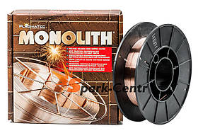 Омедненная сварочная проволока СВ08Г2С TM Monolith 0,8 мм (упаковка - 1 кг)