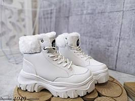 Зимние высокие кроссовки из эко кожи 36-40 р