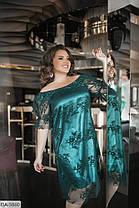 Платье  БАТАЛ миди нарядное в расцветках 1605094, фото 3