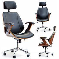 Офісне крісло дерев'яне + еко-шкіра FRANK, фото 1