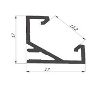 Алюмінієвий профіль кутовий ЛПУ17 для світлодіодних стрічок лед 11860