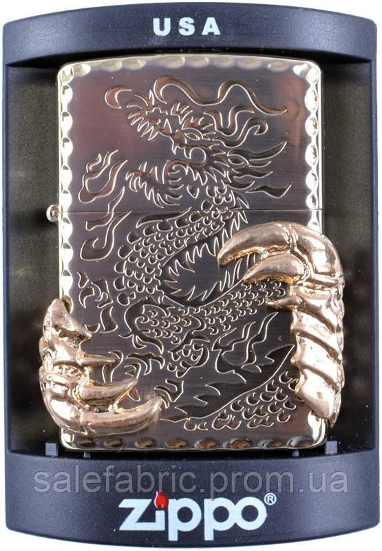 Зажигалка бензиновая Zippo Когти дракона №4213