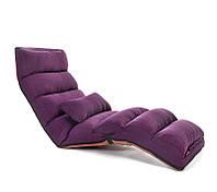 """Раскладное кресло """"Relax"""" для отдыха домой, в офис и на дачу. Фиолетовое. (C1)"""