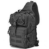 Рюкзак тактичний однолямочный Tactical 15л колір чорний, фото 2