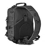 Рюкзак тактичний однолямочный Tactical 15л колір чорний, фото 3