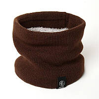 Шарф-хомут, снуд, шарф-труба: Коричневый, мужской/женский