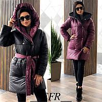 Женская зимняя двухсторонняя куртка в разных цветах