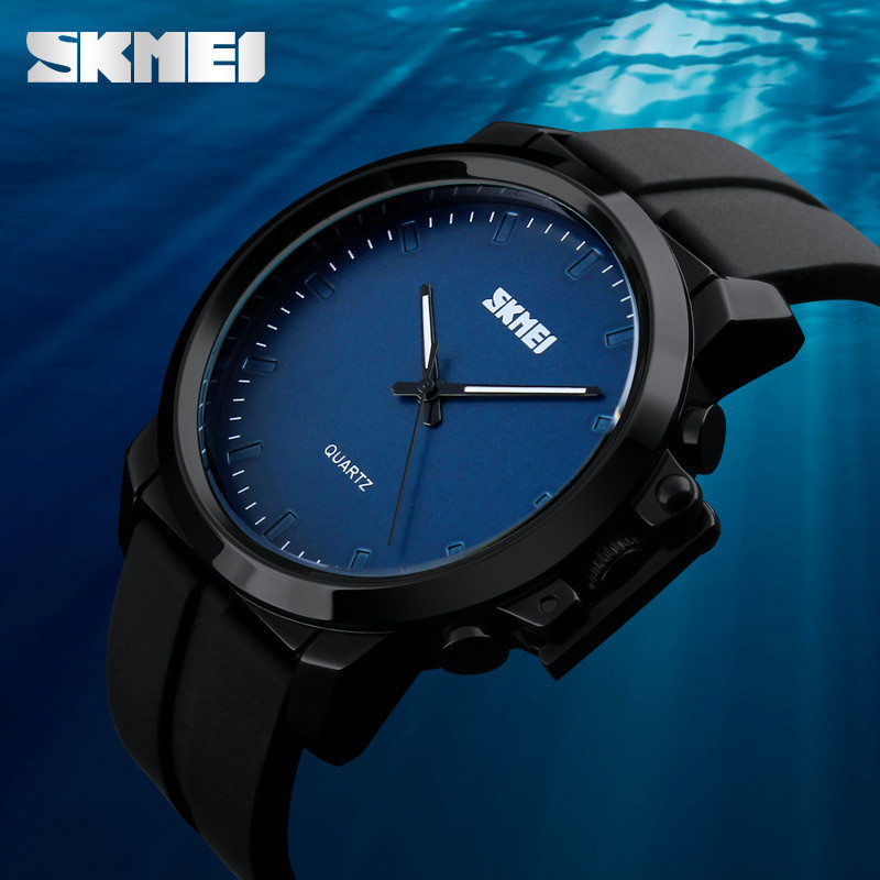 Классические мужские часы Skmei 1208 black blue / black white