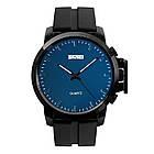 Классические мужские часы Skmei 1208 black blue / black white, фото 4