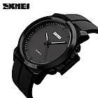 Классические мужские часы Skmei 1208 black blue / black white, фото 8