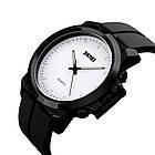 Классические мужские часы Skmei 1208 black blue / black white, фото 6