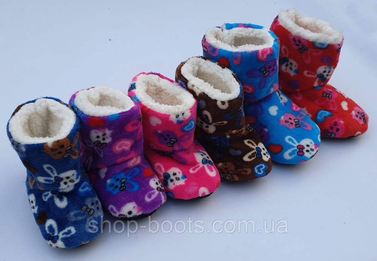 Детские тапочки-носки высокие теплые оптом. 22-36рр. Модель детская bixtra 5