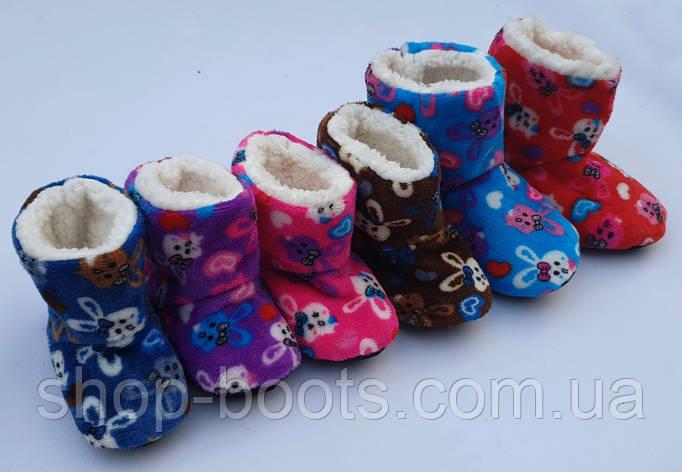 Детские тапочки-носки высокие теплые оптом. 22-36рр. Модель детская bixtra 5, фото 2