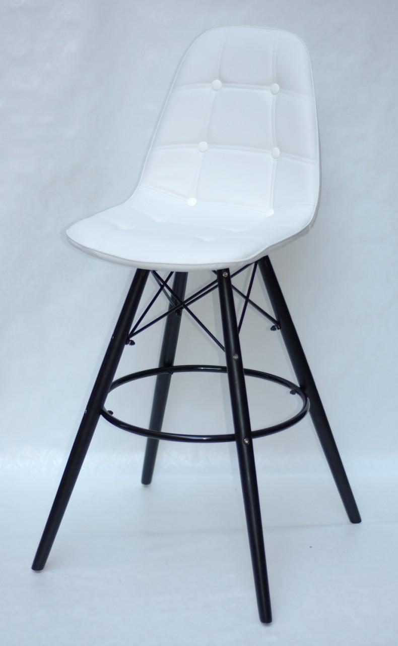 Барный стул Alex BK, экокожа, белый