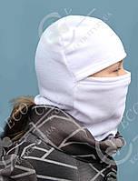 Подросток, детская, взрослая шапка шлем, маска, балаклава.  Полар флис все размеры и цвета 50, белый