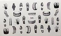 Наклейки  для дизайна ногтей Adore Professional   326