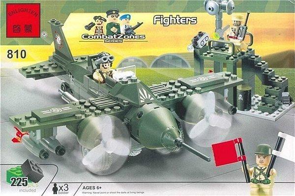 Конструктор BRICK 810 Истребитель 225 деталей