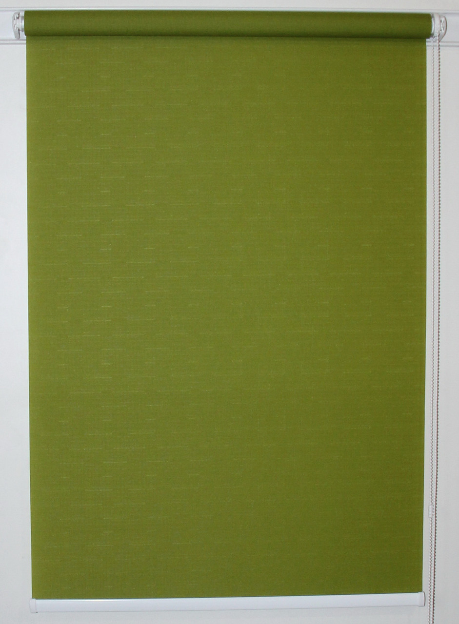 Рулонная штора 1100*1500 Ткань Лён 7383 Оливковый