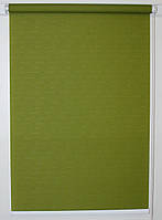 Готовые рулонные шторы 1100*1500 Ткань Лён 7383 Оливковый