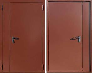 """Входные двери  """"Техно полуторка"""" RAL 8017"""