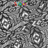 "Ткань Коттон Дизайн ""Орнамент"" ч/б sd373-01, фото 1"