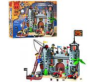 Конструктор BRICK 310 замок пиратов, фигурки 7шт, 366дет