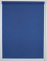 Готовые рулонные шторы 525*1500 Ткань Лён 2075 Синий