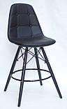 Полубарный стілець Alex BK, екошкіра, чорний, фото 2