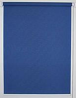 Готовые рулонные шторы 550*1500 Ткань Лён 2075 Синий