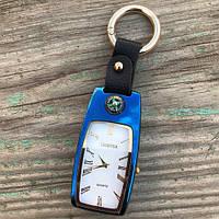 USB зажигалка часы брелок электронная Lighter Синий, фото 1