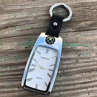 USB зажигалка часы брелок электронная Lighter Серебристый, фото 1