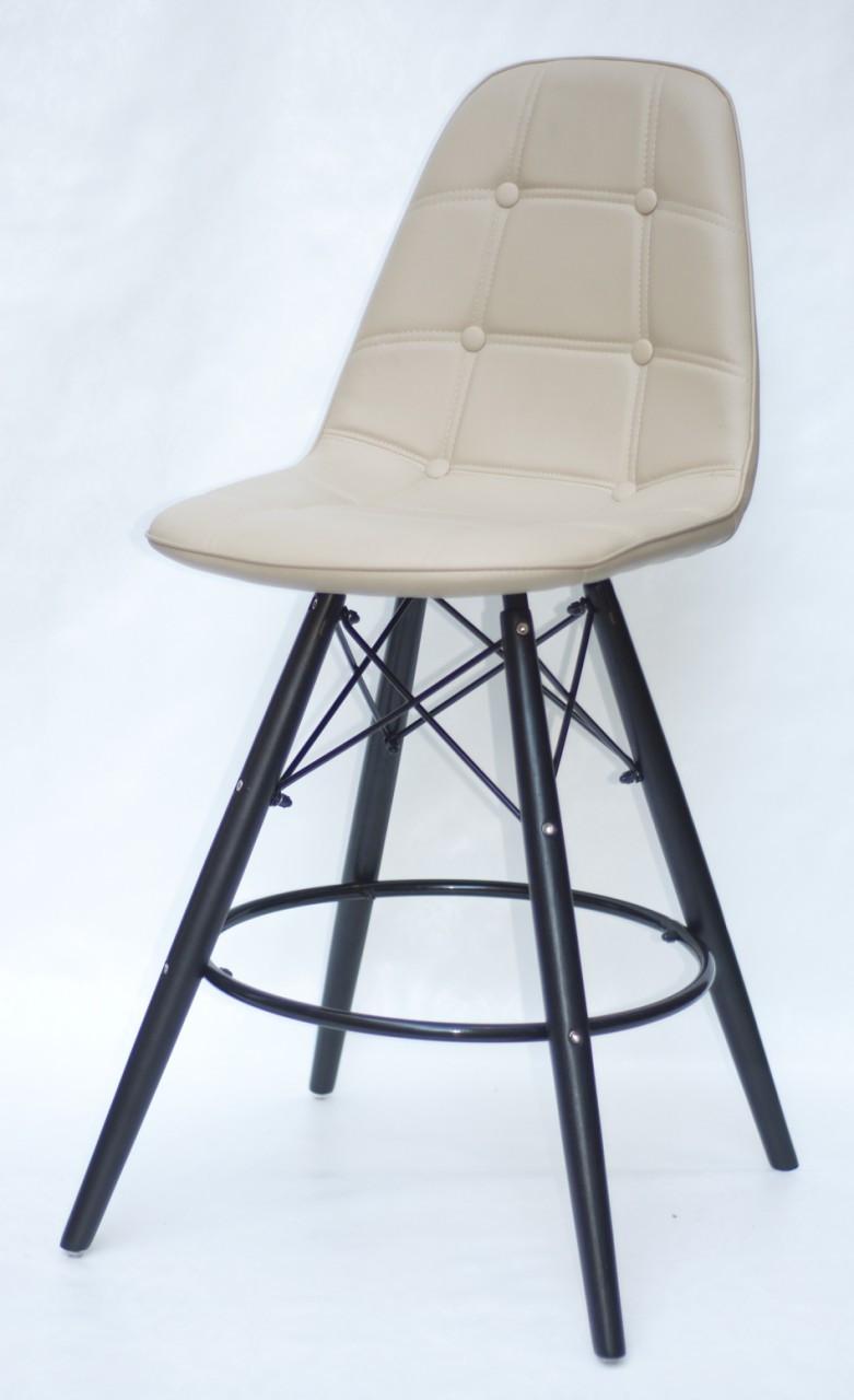 Полубарный стілець Alex BK, екошкіра, бежевий