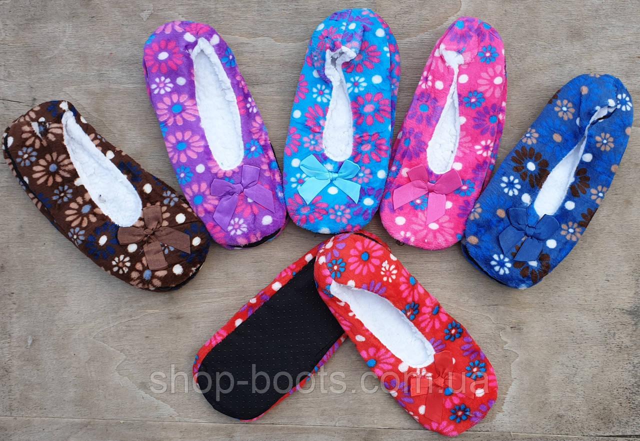 Женские комнатные тапочки-носки теплые. 35-42рр. Модель женская bixtra 5