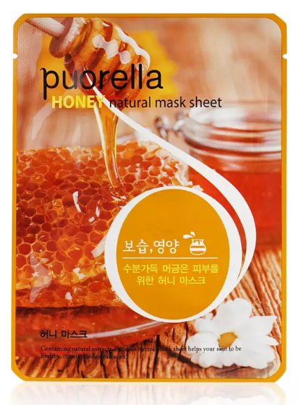 Питательная тканевая маска для лица Puorella Spunlace Masks Мед