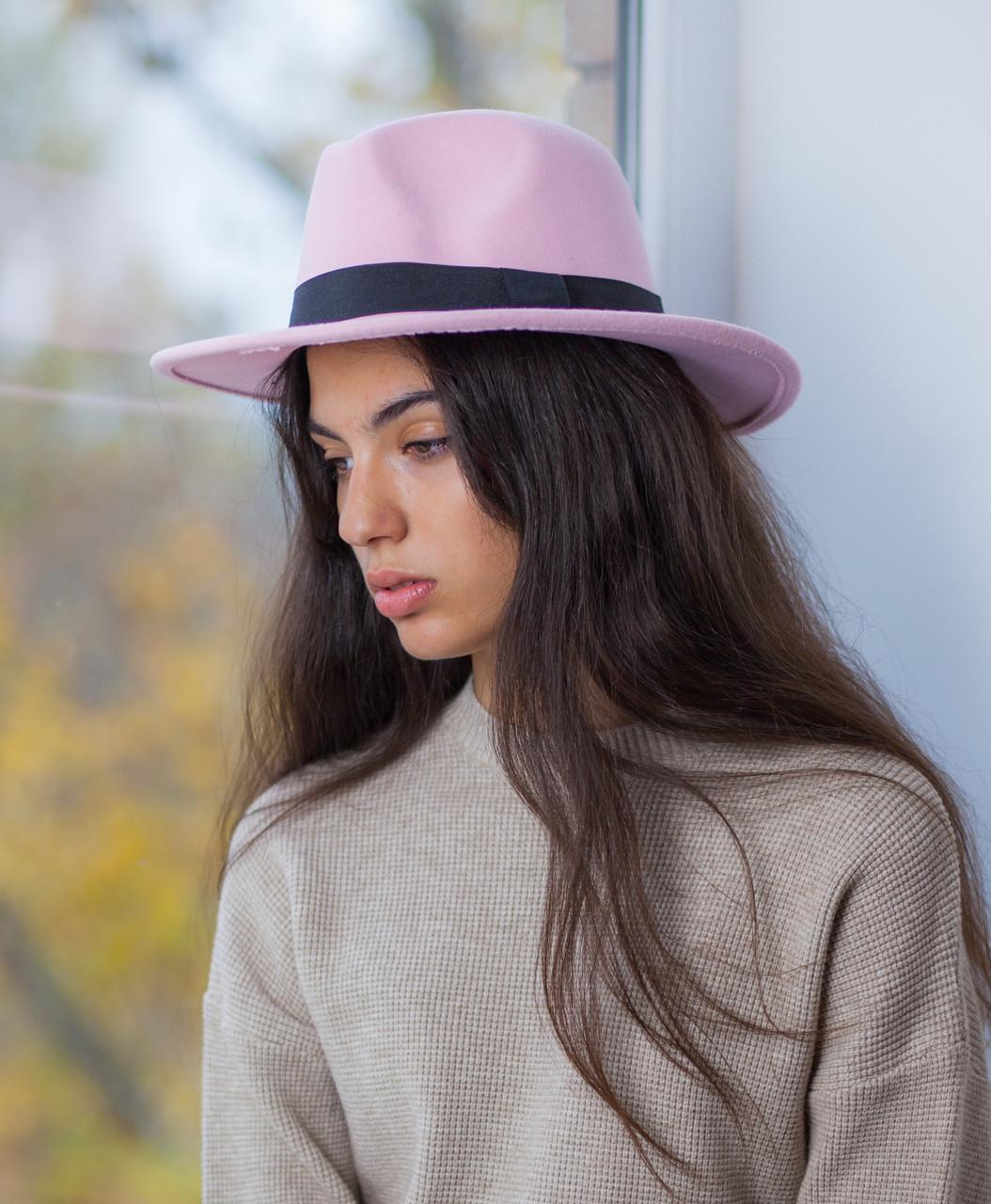 Шляпа ковбойка розовая