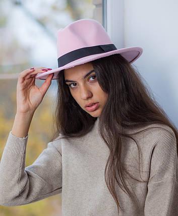 Шляпа ковбойка розовая, фото 2