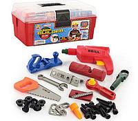 Набор инструментов 2059,  33дет, пила, ключи, рубанок, дрель механич.,в ящике