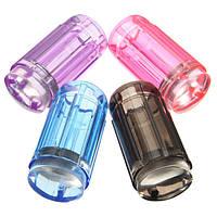Прозрачный силиконовый штамп для стемпинга со скрапером (фиолетовый)