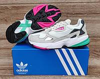 Подростковые, детские кроссовки Adidas Falcon W (GREY/ MINT/ PINK) F35269