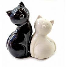 Набор солонка и перечница Кошки