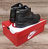 Подростковые, детские зимние ботинки кроссовки Nike Air Force Total Black, фото 2