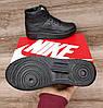 Подростковые, детские зимние ботинки кроссовки Nike Air Force Total Black, фото 8