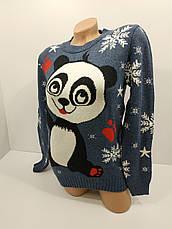 Шерстяні жіночі светри новорічні оптом та в роздріб S 1048, фото 3