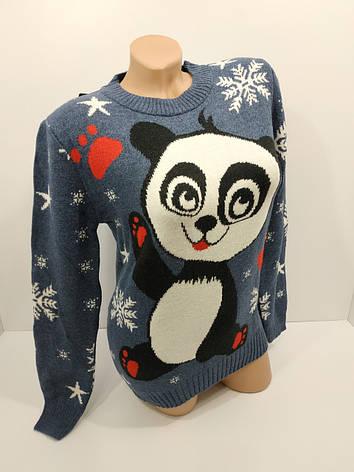 Шерстяні жіночі светри новорічні оптом та в роздріб S 1048, фото 2