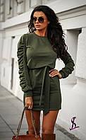 Платье мини с поясом, фото 1